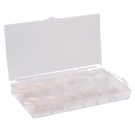 100 Clear Tips with Nail BOX