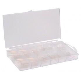 Nails Tips 100 Transparentes con Nail BOX
