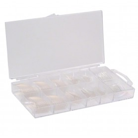 500 Clear Tips with Nail BOX
