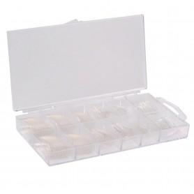 Nails Tips 500 Transparentes con Nail BOX